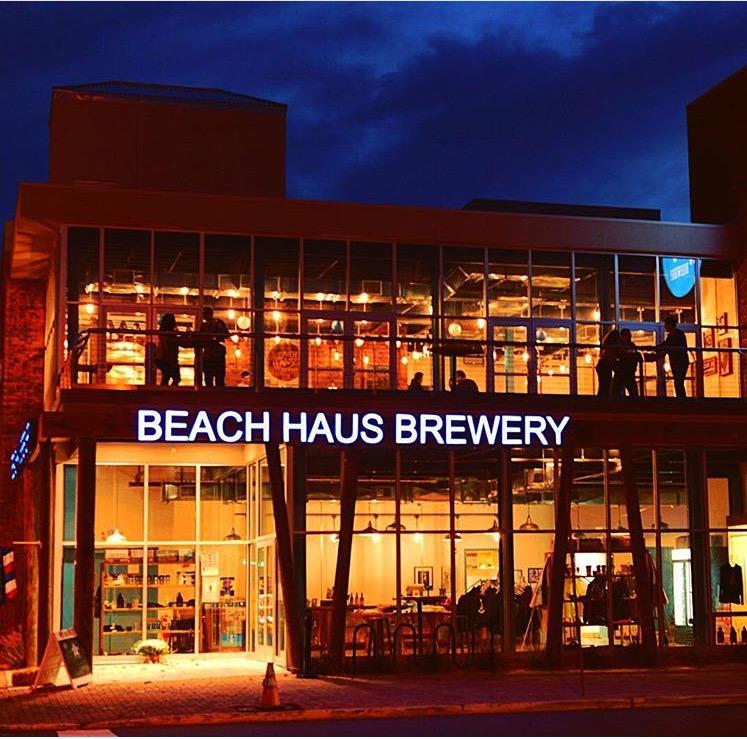 Beach Haus Brewery at Night
